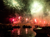The Amazing Fireworks Display During the Night of Redentore Celebration in the Basin of St. Mark, V Photographic Print by Carlo Morucchio