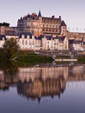 The Chateau of Amboise, UNESCO World Heritage Site, Reflecting in the Waters of the River Loire, Am Photographic Print by Julian Elliott