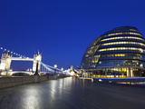 City Hall Building, Home of the Greater London Authority, Tower Bridge over the River Thames, Borou Photographic Print by Kimberley Coole