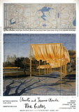 The Gates Project for Central Park New York Collage Collectable Print by  Christo