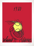 Roland Garros, 1980 (red) Collectable Print by Valerio Adami