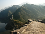 Great Wall of Chin, UNESCO World Heritage Site, Huanghua Cheng (Yellow Flower) with Jintang Lake in Photographic Print by Kimberly Walker