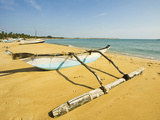 Old Style Outrigger Fishing Boat and Post-2004 Tsunami Foreign Donated Newer Ones Beyond, Arugam Ba Photographic Print by Robert Francis