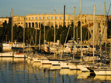 Sunset over Marina to the Roman Amphitheatre, Pula, Istria, Croatia, Adriatic, Europe Photographic Print by Stuart Black