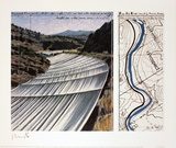 Over the River, project for the Arkansas River Collectable Print by  Christo