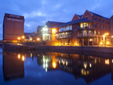 Waterfront at Night, Nottingham, Nottinghamshire, England, United Kingdom, Europe Photographic Print by Frank Fell