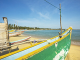 Outrigger Fishing Boats on This Popular Surf Beach, Badly Hit by the 2004 Tsunami, Arugam Bay, East Photographic Print by Robert Francis