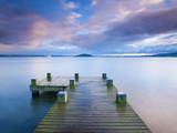 Lake Rotorua, North Island, New Zealand, Pacific Fotografisk tryk af Ben Pipe