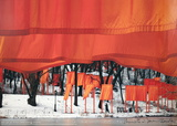 The Gates Project for Central Park, New York Limitierte Auflage von Christo 