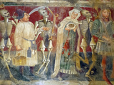 Detail of the Dance of Death Fresco Dating from 1475, Chapel of Our Lady of the Rocks, Beram, Istri Photographic Print by Stuart Black