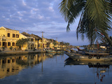 View of Old Town and Fishing Boats Along Thu Bon River, Hoi An, UNESCO World Heritage Site, South C Photographic Print by Stuart Black