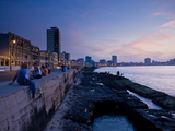 The Malecon, Havana, Cuba, West Indies, Central America Fotografisk tryk af Ben Pipe