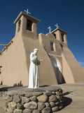 Statue of St. Francis of Assisi, Old Mission of St. Francis De Assisi, Built About 1710, Ranchos De Photographic Print by Richard Maschmeyer