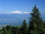 Mont Blanc Range Viewed from Col De La Faucille, Near Gex, Rhone Alpes, France, Europe Photographic Print by Stuart Black