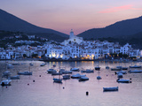 Harbour at Dusk, Cadaques, Costa Brava, Catalonia, Spain, Mediterranean, Europe Photographic Print by Stuart Black