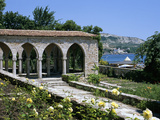 The Rose Garden and Folly, the Palace of Queen Marie, Balchik, Black Sea Coast, Bulgaria, Europe Photographic Print by Stuart Black