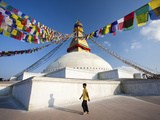 Bodhnath Stupa (Boudhanth) (Boudha) One of the Holiest Buddhist Sites in Kathmandu, UNESCO World He Photographic Print by Lee Frost