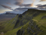 A View Southwards Along the Trotternish Peninsula from the Mountain Bioda Buidhe, Isle of Skye, Inn Lámina fotográfica por Jon Gibbs