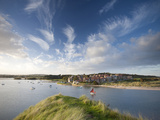 Alnmouth Village and the Aln Estuary from Church Hill on a Calm Late Summer's Evening, Alnmouth Nea Photographic Print by Lee Frost