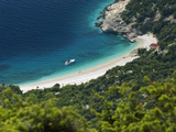 Secluded Beach Below Village, Lubenice, Cres Island, Kvarner Gulf, Croatia, Adriatic, Europe Photographic Print by Stuart Black