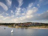 Alnmouth Village and the Aln Estuary from Church Hill on a Calm Late Summer's Evening, Alnmouth, Ne Photographic Print by Lee Frost