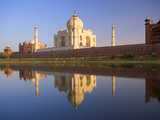 Taj Mahal, UNESCO World Heritage Site, Reflected in the Yamuna River, Agra, Uttar Pradesh, India, A Photographic Print by Ben Pipe