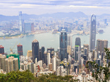 Cityscape from Victoria Peak, Hong Kong, China, Asia Photographic Print by Amanda Hall
