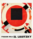 Proun (1924) Posters by El Lissitzky