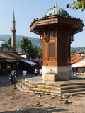 Sebilj Fountain in Pigeon Square, Sarajevo, Bosnia and Herzegovina, Europe Photographic Print by Emanuele Ciccomartino