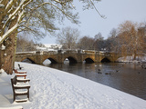 Bridge over the Wye River, Bakewell, Derbyshire, England, United Kingdom, Europe Photographic Print by Frank Fell