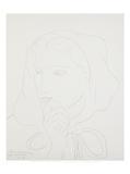 Potrait de Femme en Capuchon Art par Henri Matisse
