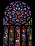 Rose Window, Stained Glass Windows in North Transept, Chartres Cathedral, UNESCO World Heritage Sit Photographic Print by Nick Servian
