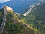 Overview of Weathered Section, Great Wall of China, UNESCO World Heritage Site, Huanghuacheng (Yell Photographic Print by Kimberly Walker