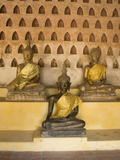 Statues of the Buddha, Wat Si Saket, Vientiane, Laos, Indochina, Southeast Asia, Asia Photographic Print by Richard Maschmeyer