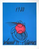 Roland Garros, 1980 (blue) Begränsad utgåva av Valerio Adami
