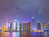 Pudong Skyline at Night across the Huangpu River, Shanghai, China, Asia Photographic Print by Amanda Hall