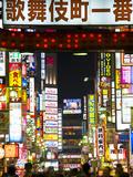 Neon Signs, Kabukicho, Shinjuku, Tokyo, Japan, Asia Fotografisk tryk af Ben Pipe
