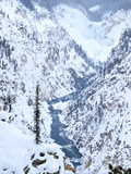Artists Point of Grand Canyon Yellowstone in Winter, Yellowstone National Park, UNESCO World Herita Photographic Print by Kimberly Walker