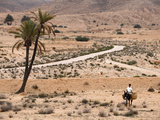 Boy on a Donkey in a Parched Landscape, Gabes, Tunisia, North Africa, Africa Stampa fotografica di  Godong