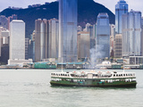 Star Ferry Crosses Victoria Harbour with Hong Kong Island Skyline Behind, Hong Kong, China, Asia Photographic Print by Amanda Hall