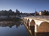Looking across the River Creuse in the Town of Le Blanc, Indre, Loire Valley, France, Europe Photographic Print by Julian Elliott