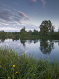 Low Light and Reflections across the River Cher Near Villefranche-Sur-Cher, Centre, France, Europe Photographic Print by Julian Elliott