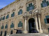 Auberge De Castille One of Valletta's Most Magnificent Buildings, Valletta, Malta, Mediterranean, E Photographic Print by Simon Montgomery