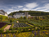 Chateau De Villandry, UNESCO World Heritage Site, Villandry, Indre-Et-Loire, Loire Valley, France,  Photographic Print by Julian Elliott
