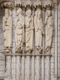 Medieval Carvings of Old Testament Figures, North Porch, Chartres Cathedral, UNESCO World Heritage  Reproduction photographique par Nick Servian