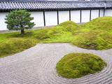 Traditional Zen Raked Gravel Garden, Hojo Hasso (Zen) Garden, Tofuku-Ji, Kyoto, Japan, Asia Photographic Print by Ben Pipe