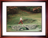 Jack Nicklaus - 1972 Masters Bridge to 13th Green Framed Memorabilia