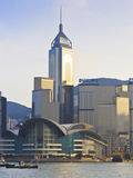 Hong Kong Convention Centre and Skyline, Hong Kong Island, Hong Kong, China, Asia Photographic Print by Amanda Hall