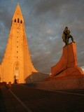 Cathedral in Reykjavik, Iceland, Polar Regions Photographic Print by David Pickford