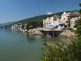 View Along Lido to Kvarner Hotel, Opatija, Kvarner Gulf, Croatia, Adriatic, Europe Photographic Print by Stuart Black